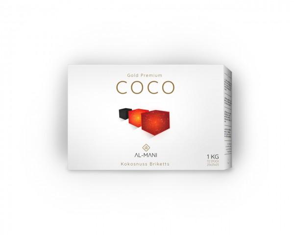 Al-Mani Coco Gold Premium - 1Kg - 25mm